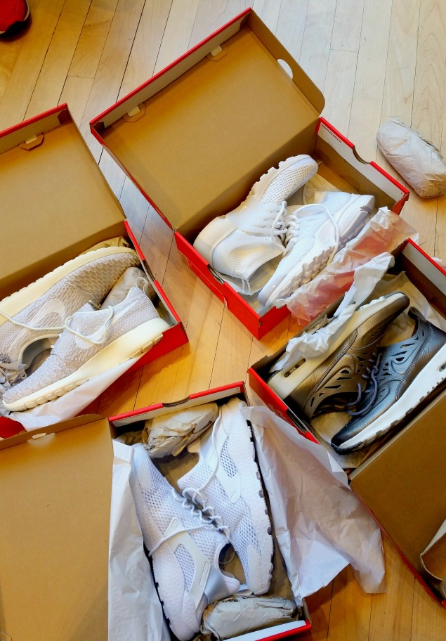 Boxes of Sneakers