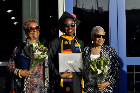quinnipiac graduation with grandmothers